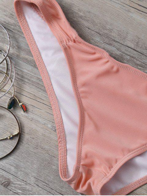 fashion Cute Printed Halter Bikini Set - ORANGE L Mobile