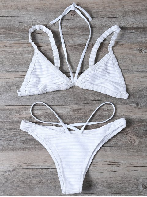 lady Strappy Bralette Swimsuits - WHITE L Mobile