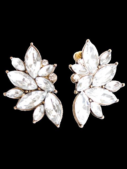 Boucles d'oreilles en Strass - Blanc  Mobile