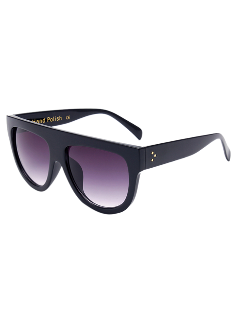 shop Simple Full-Rim Black Sunglasses - BLACK  Mobile