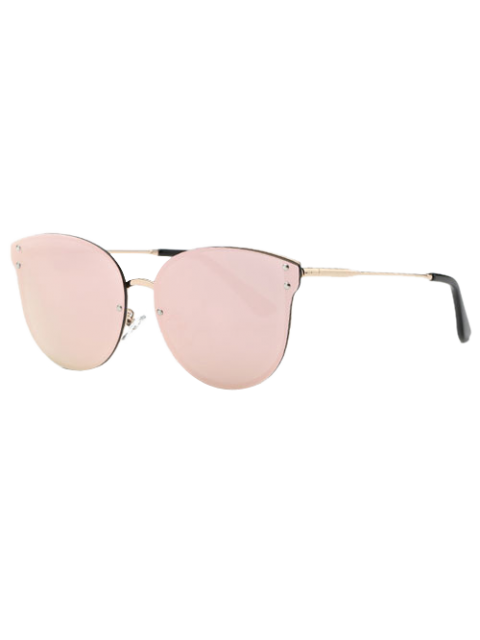 sale Pink Frameless Mirrored Sunglasses - PINK  Mobile