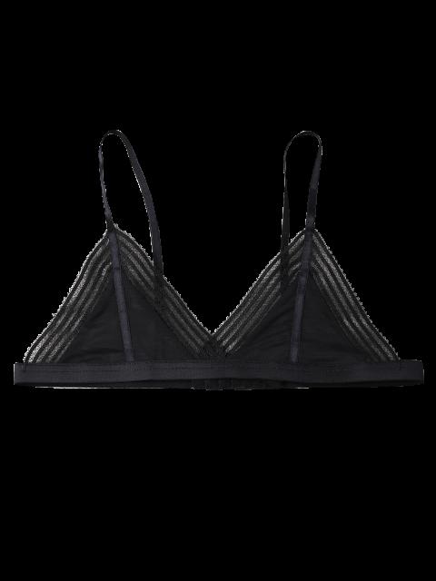 womens Push Up Adjustable Straps Swim Top - BLACK L Mobile