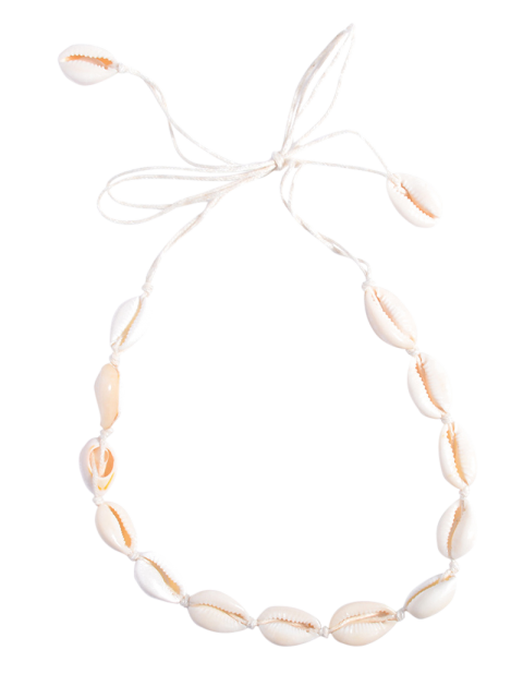 Collier choker en coquillages - Blanc  Mobile