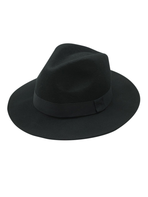 best Vintage Felt Fedora Hat - BLACK  Mobile