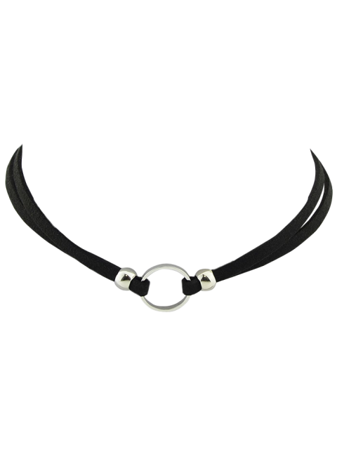 sale Punk Style Artificial Leather Round Choker -   Mobile