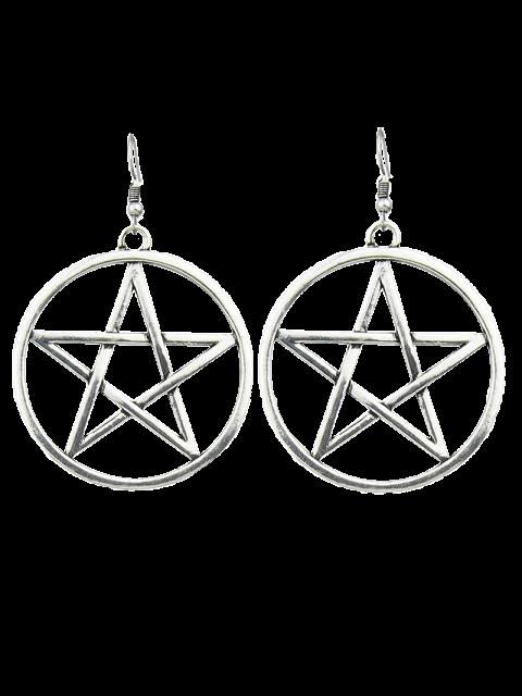 sale Star Circle Earrings -   Mobile