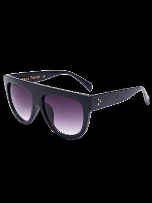 Einfache Vollrand-schwarze Sonnenbrille