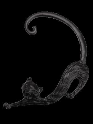 ONE PIECE Retro Kitten Shape Earring - Black