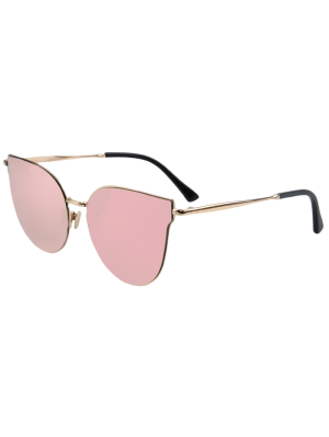 Street Fashion Golden-Rim Cat Eye Sunglasses