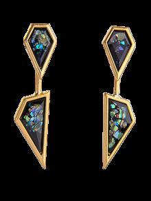 Buy Geometric Faux Gemstone Drop Earrings GOLDEN