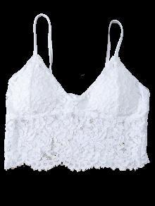 f83707e0eb782 12% OFF  2019 White Lace Bralette In WHITE L