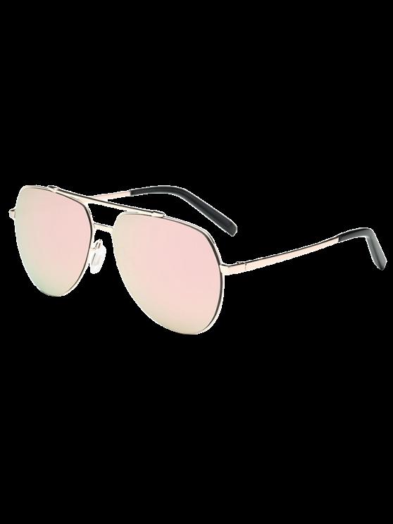 Lunettes de soleil aviateur avec verre léger - Rose Clair
