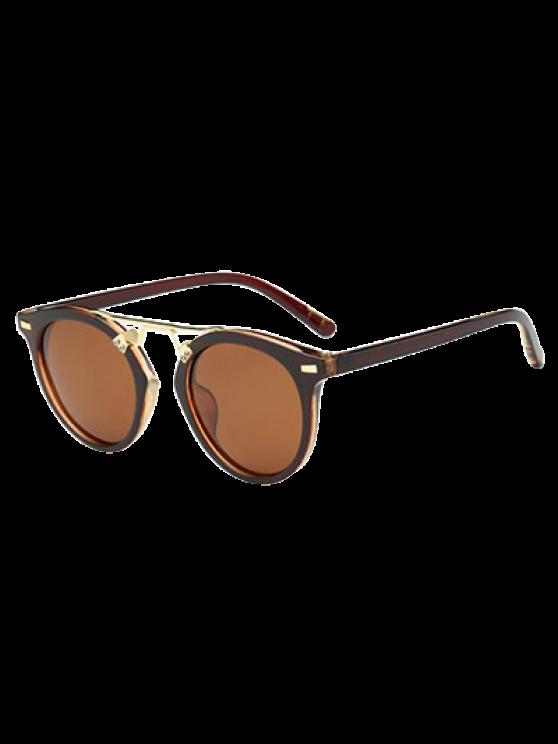women's Dam Nose Bridge Oval Sunglasses - TEA-COLORED