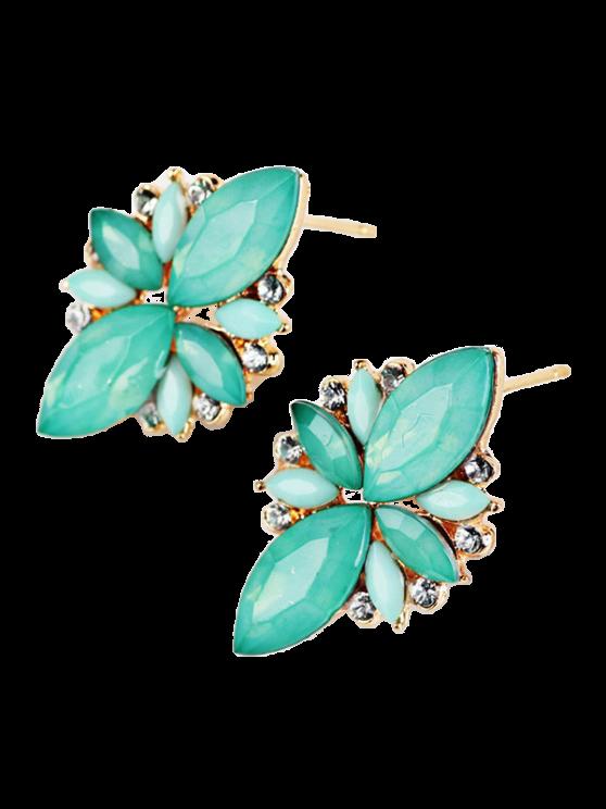Boucles d'oreilles à couleur de bonbon avec embellissement de gemmes artificielles - Azur