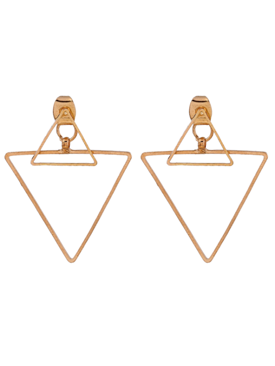 online Hollowed Triangle Punk Ear Jackets - GOLDEN