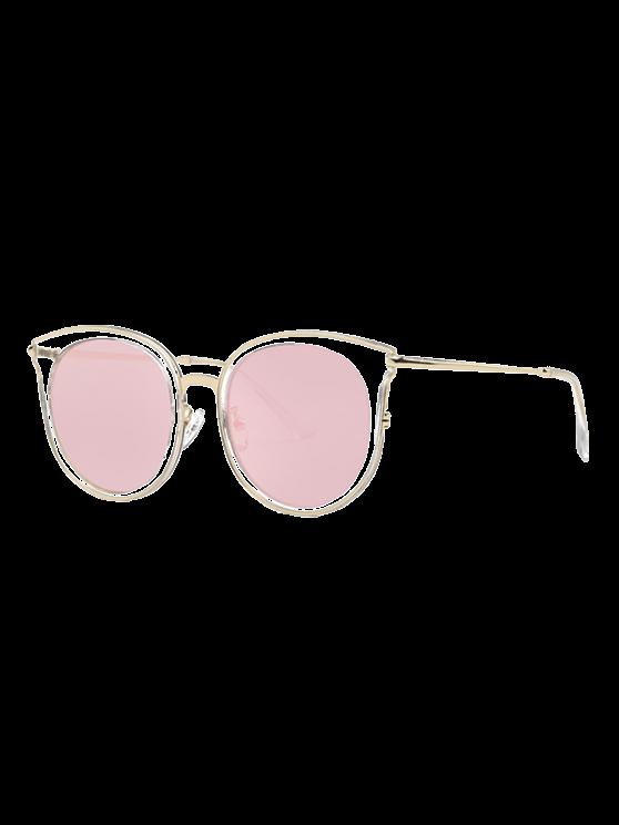 Transparent Cat Eye verspiegelten Sonnenbrillen - Pink
