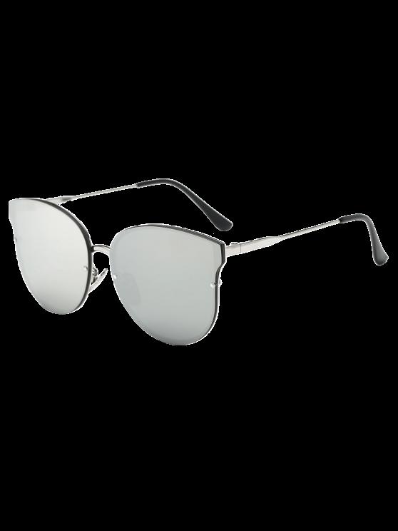 Llantas completo con espejo gafas de sol de la mariposa - Plata