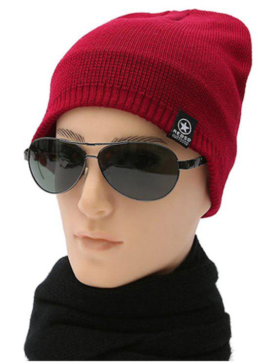 womens Winter knit Ski Beanie - RED