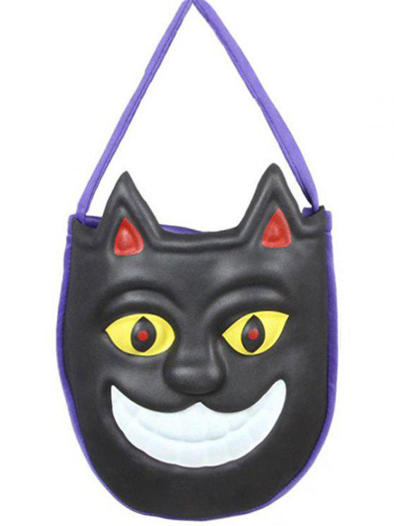 shops Mask Pattern Color Block Halloween Bag - BLACK