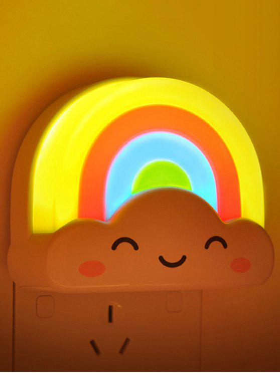 Mini control de voz creativo Rainbow LED Night Light - COLORIDO