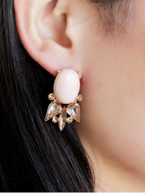 online Pair of Faux Gem Embellished Earrings - COLORMIX