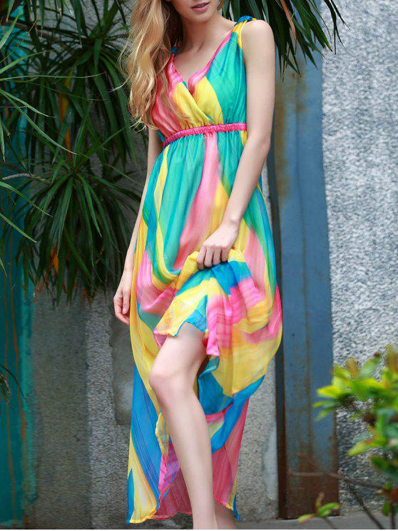 outfit Sleeveless Multi-Colored Sundress - COLORMIX S