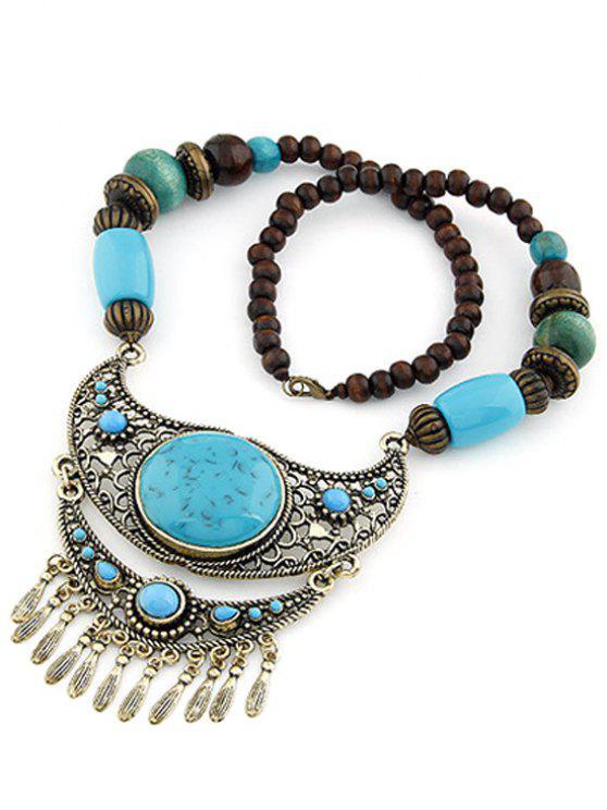 Turquoise ethnique Pendentif Collier de perles - Pers