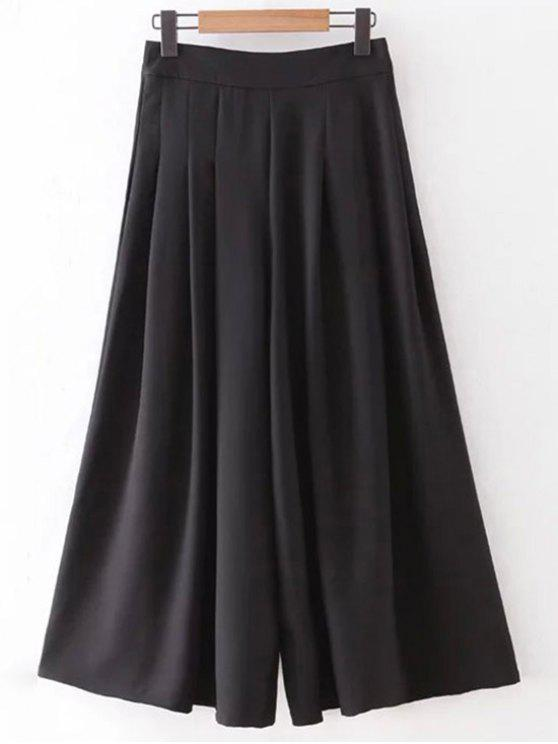 جيوب الورك الصلبة اللون Culotte - أسود L