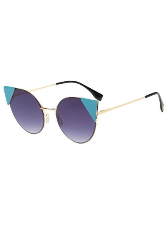 Triángulo de inserción gafas de sol del ojo de gato - Morado Oscuro