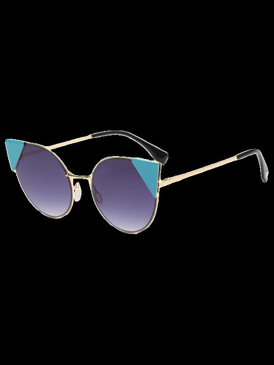 affordable Triangle Insert Cat Eye Sunglasses - DEEP PURPLE