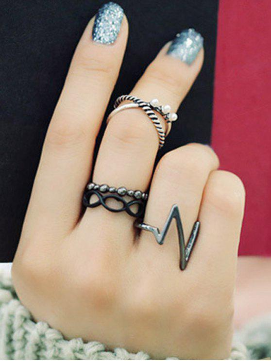 shops A Suit of Lighting Alloy Rings - SILVER ONE-SIZE