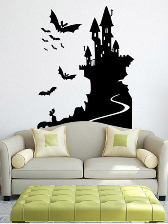 Bats Castle Hy Waterproof Room Wall Sticker Black