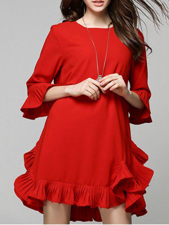 Volante Vestido Rojo - Rojo M