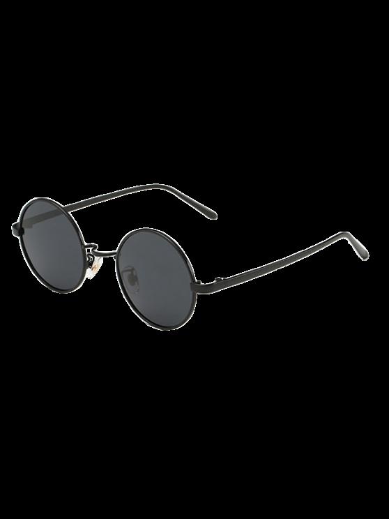 Streetwear metal gafas de sol redondas - Negro