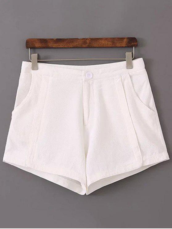 Puros pantalones cortos de color talle alto - Blanco 38