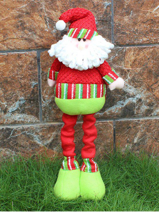 Christmas Party Decorative Stretched Santa Puppet Toy - Rosso e Verde