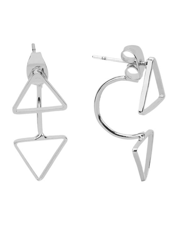 outfit Triangle Ear Jackets - SILVER