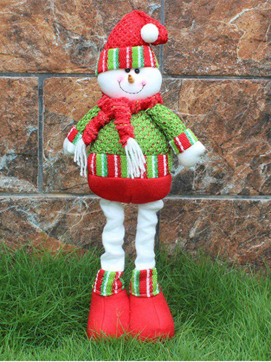 women Christmas Party Decorative Stretched Snowman Puppet Toy - RED AND GREEN