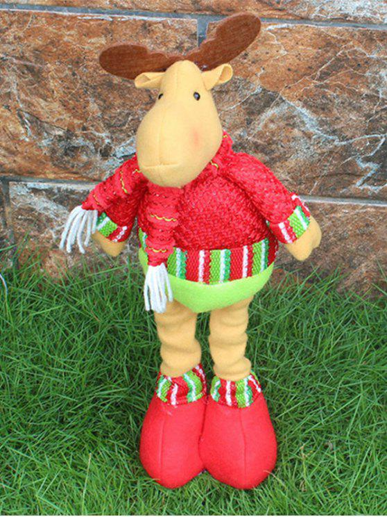 women's Christmas Party Decorative Stretched Deer Puppet Toy - RED AND GREEN
