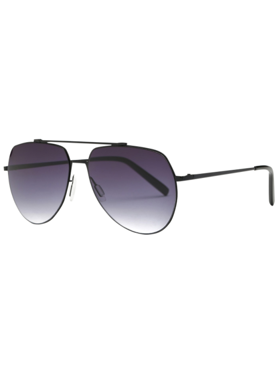 outfit Lightweight Pilot Sunglasses - BLACK