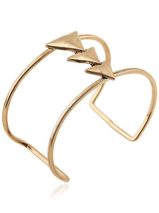 buy Triangle Two Layered Cuff Bracelet - GOLDEN