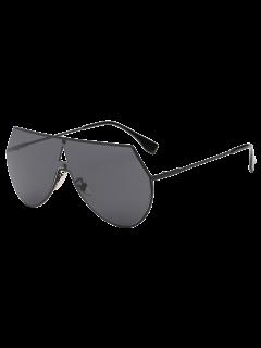Hollow Triangle Shield Sunglasses - Black