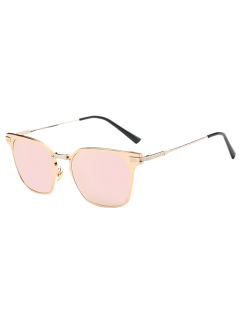 Full-Rim Mirrored Butterfly Sunglasses - Pink