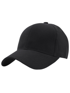 Hot Sale Adjustable Outdoor Pure Color Baseball Cap - Black