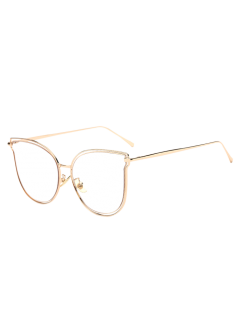 Hollow Out Butterfly Shaped Sunglasses - Transparent