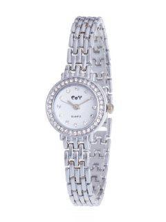 Rhinestone Chain Quartz Watch - Silver