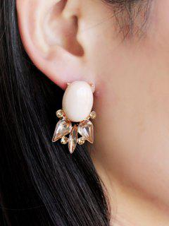 Pair Of Faux Gem Embellished Earrings