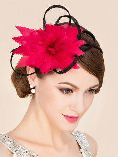Red Tea Party Cocktails Hat - Red