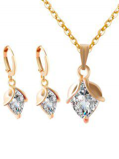 Faux Crystal Wedding Jewelry Set - White