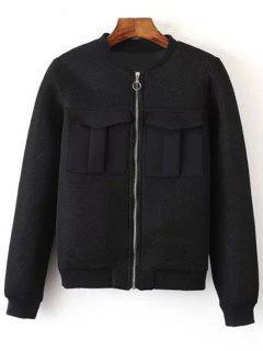 Big Pocket Mesh Design Pilot Jacket - Black L